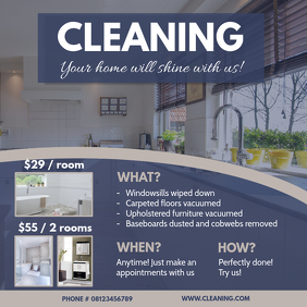 Modern Home Cleaning Business Advert Sample