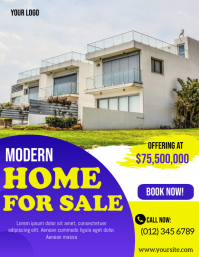 Modern Home For Sale Flyer Template 传单(美国信函)