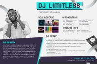 Modern House Music Press Kit Poster Template Плакат