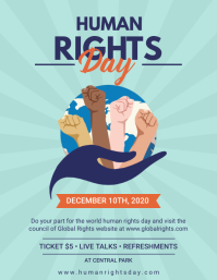 Modern Human Rights Day Flyer template