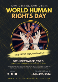 Modern Human Rights Day Poster A4 template