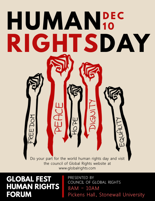 modern human rights propaganda poster template postermywall