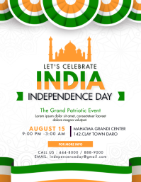 Modern Indian Independence Day Event Flyer template