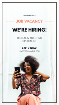 Modern Instagram Hiring Now Advert template