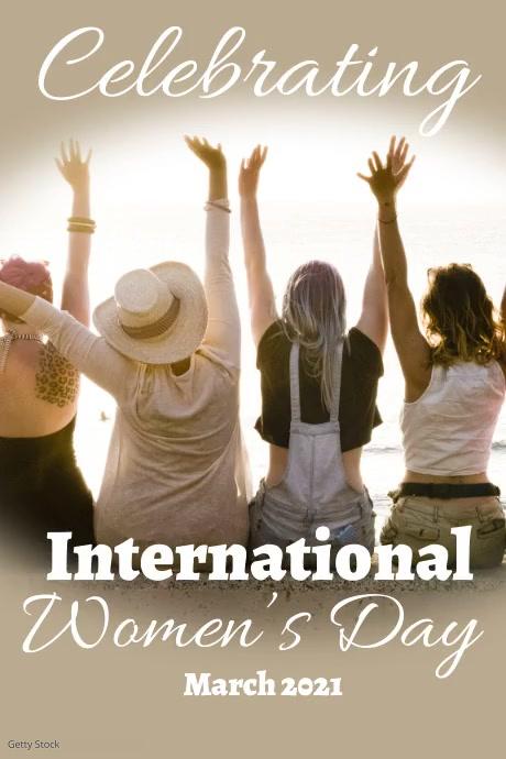 Modern International Women's Day Slide Post Cartaz template