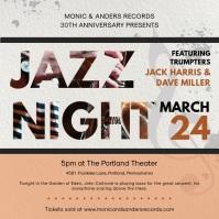 Modern Jazz Festival Ad for Social Media
