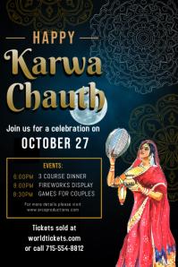 Modern Karwa Chauth Festival Poster