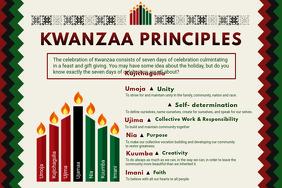 Modern Kwanzaa Principles List Poster