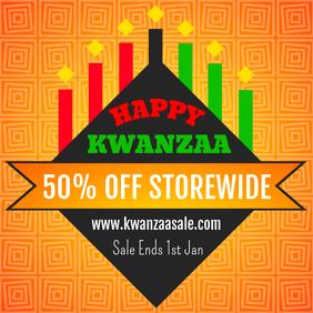 Modern Kwanzaa Sale Online Ad