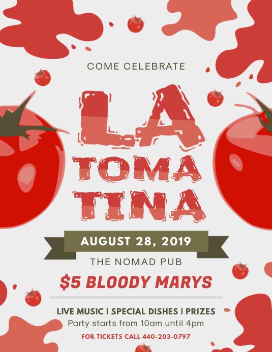 Modern La Tomatina Flyer Template