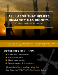 Modern Labor Rights Poster Design