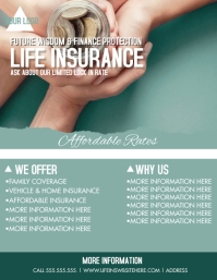 Modern Life Insurance Flyer Video Volante (Carta US) template