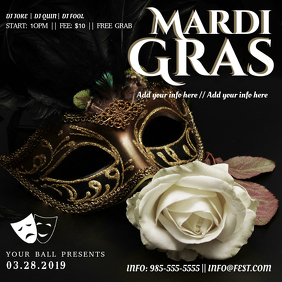 Modern Mardi Gras Invitation Template