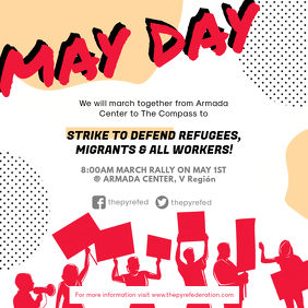 Modern May Day Seminar Ad Design