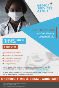 Modern Medical Clinic Advertisement Flyer Template