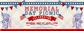 Modern Memorial Day Event Banner Facebook Cover Photo template