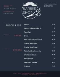 Modern Men's Barber Price List Template