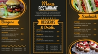 Modern Menu Digitalt display (16:9) template
