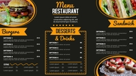 Modern Menu Digital Display (16:9) template