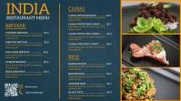 Modern menu Digital Display (16:9) template