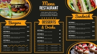 Modern Menu Pantalla Digital (16:9) template