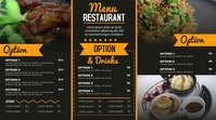 Modern Menu Digitale display (16:9) template