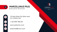 modern minimal business card Визитная карточка template