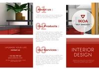 modern minimal interior trifold brochure reta A4 template