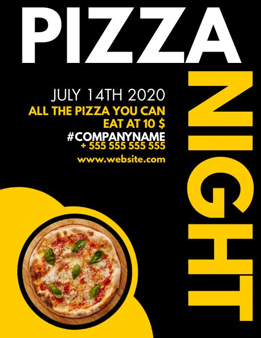 modern minimal pizza flyer design template