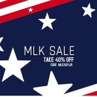 Modern MLK Sale Retail Ad Instagram Post template