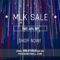 Modern MLK Sale Retail Ad Сообщение Instagram template