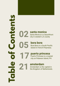 Modern Museum Table of Contents