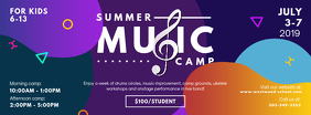 Modern Music Summer Camp Banner Facebook Cover Photo template