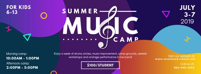 Modern Music Summer Camp Banner Template | PosterMyWall