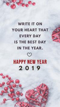 Modern New Year Wish Instagram Story Template