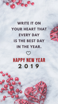 Modern New Year Wish Instagram Story Template