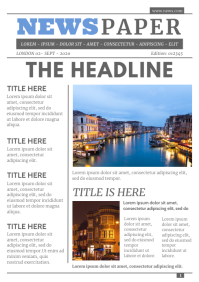 Modern Newspaper Layout A4 template