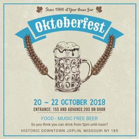 Modern Oktoberfest Musical Event Instagram Ad Template