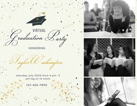 Modern Online Grad Party Flyer