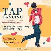 Modern Online Tap Dancing Class Instagram Pos Instagram-bericht template