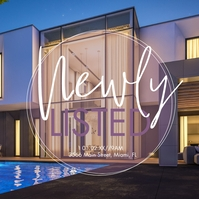 Modern Open House Listed Ad Social Media Post Instagram template