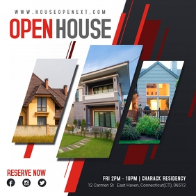 Modern Open House Real Estate Advert