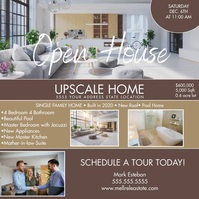 Modern Open House Upscale Home Instagram Ad template