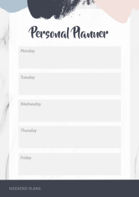 Modern Pastel Themed Personal Planner