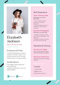 Modern Pastel Themed Resume