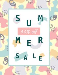 Modern Pattern Summer Sale Poster