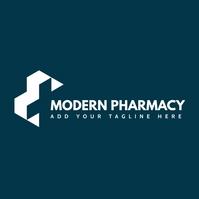 modern pharmacy icon logo template