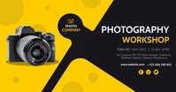 modern photography workshop facebook advertis template