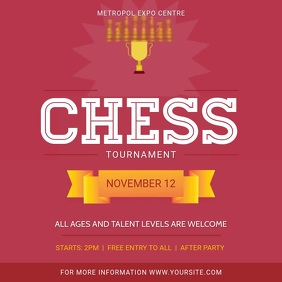 Modern Pink Chess Tournament Square Video