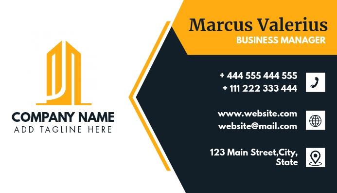 modern professional business card design temp Visitkort template